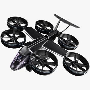 uber flying taxi - 3D model