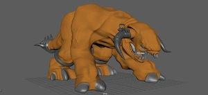 3D 4 legged model
