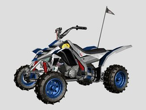 rigged quad bike 3D