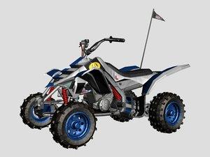 rigged quad bike 3D