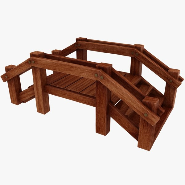 3D model cartoon bridge 01