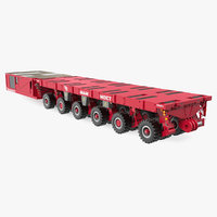 mammoet self-propelled modular transporter 3D model