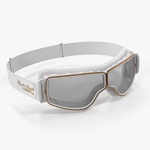 white pilot goggles model