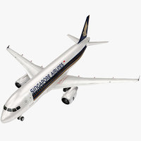Singapore Airlines Airbus A320 3D model
