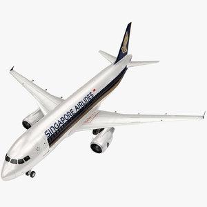 airbus singapore airline 3D model
