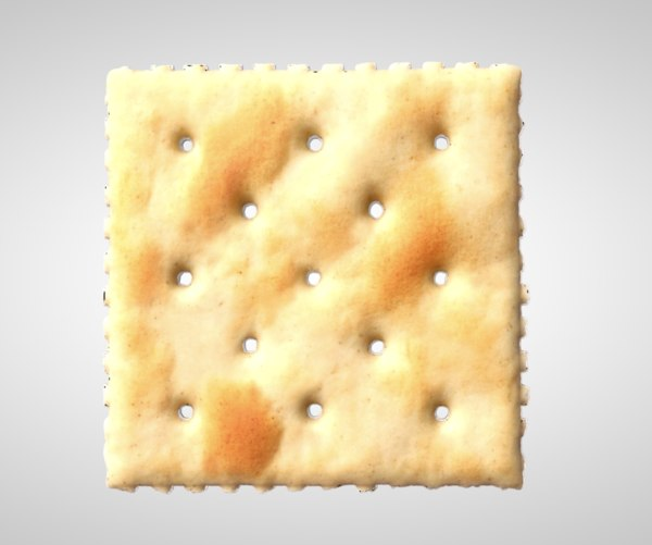 3D crackers saltine salt