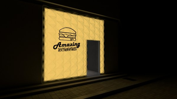 takeaway shop burger 3D model