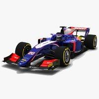 3D trident 20 f2 race car model