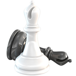 3D chessmen bishop chess piece model