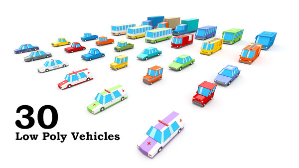 3D 30 vehicles model