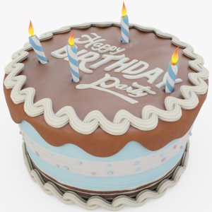 chocolate birthday 3D