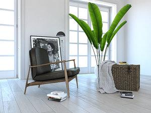 furniture set armchair 3D model