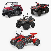 atv wheelers rigged 2 3D