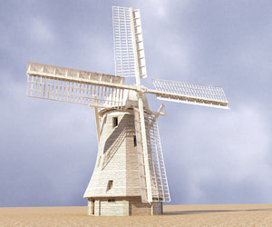 3D model holland windmill