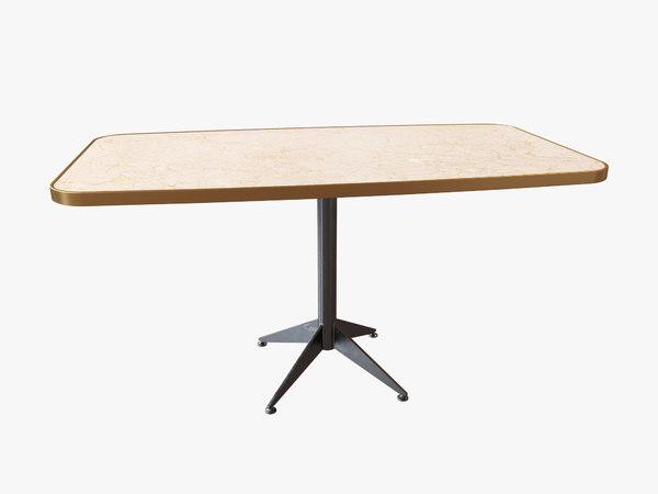 restaurant long table model