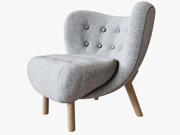 3D little petra chair model