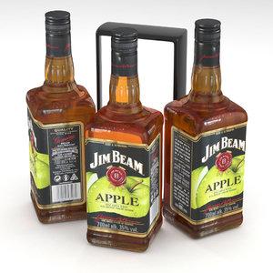 3D model bourbon whiskey beam