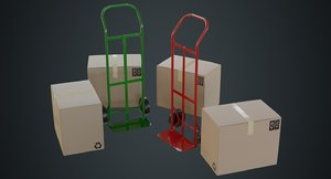 hand truck boxes 3a model