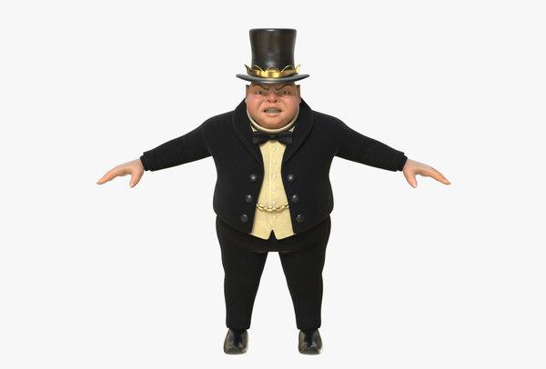3D model greedy bourgeois