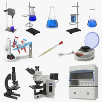 lab equipment 3 model