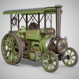 aveling barford steam tractor 3D