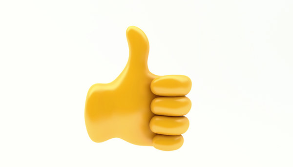 3D model emoji hand gesture