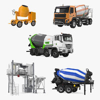 mixers mobile mixing plant 3D model