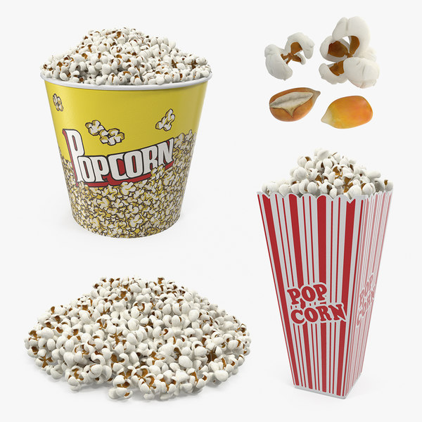 popcorn big bucket 3D model