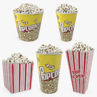 3D model popcorn containers