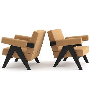3D pierre capitol complex armchair model