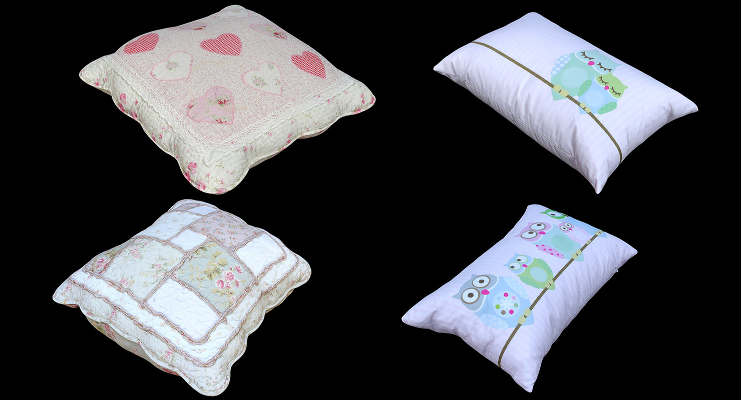 3D retopology pillows