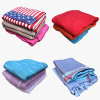 3D clothes towels model
