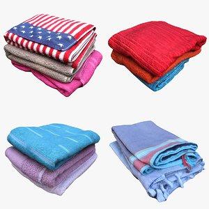3D clothes towels model