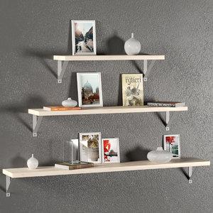 3D wall decorative set shelves model