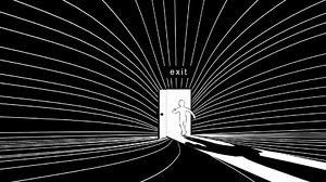 3D stylized scene exit door