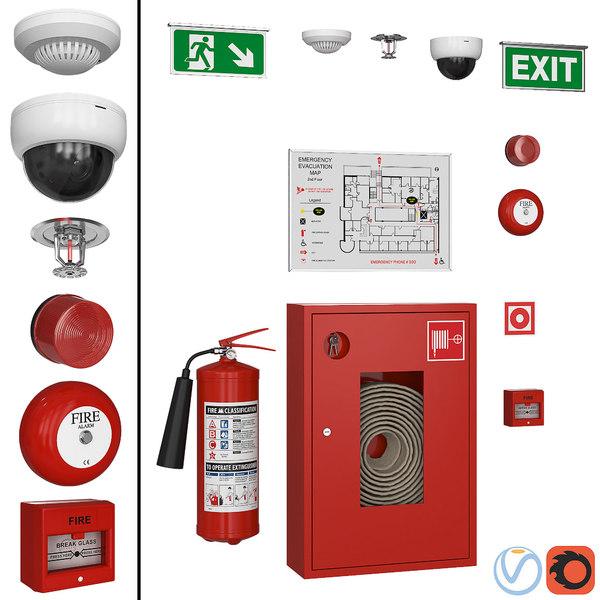 shield camera extinguisher 3D model