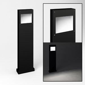 bollard light bega 84413 3D