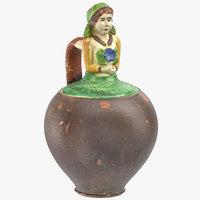 3D clay pot 07