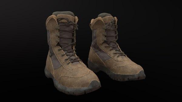 3D model military shoe