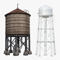 3D model water towers