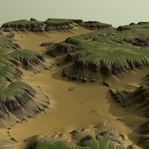 3D desert landscape nature