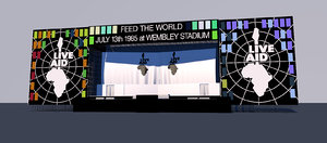 3D live aid stage