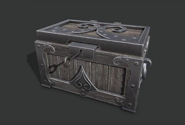 chest wood 3D
