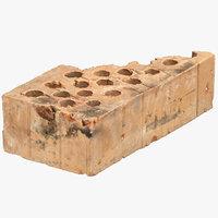 3D broken brick 04 model