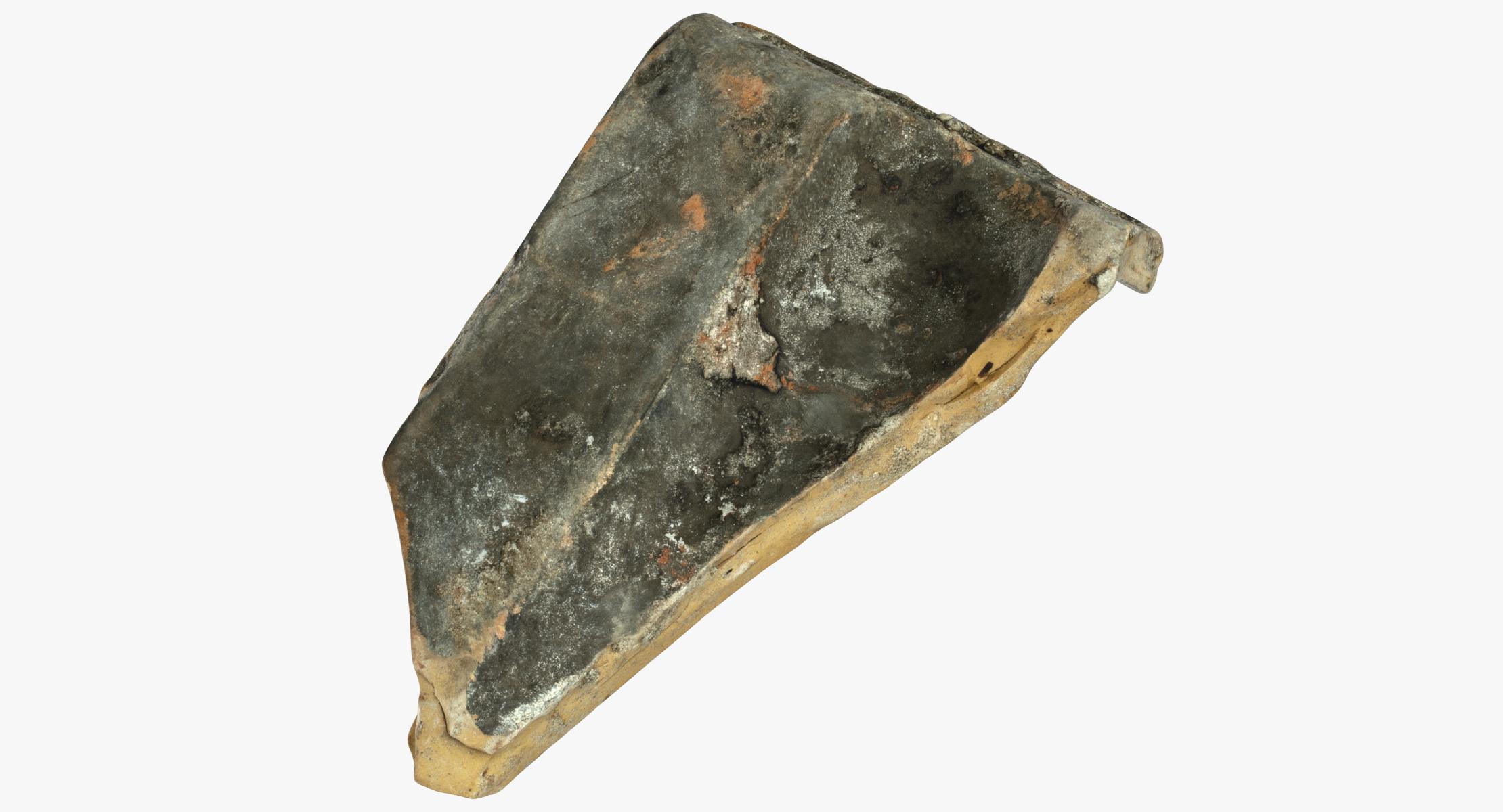 Techo roto pieza de teja 02