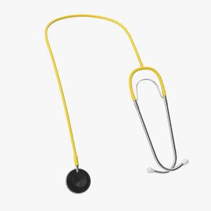 3D stethoscope 2 yellow