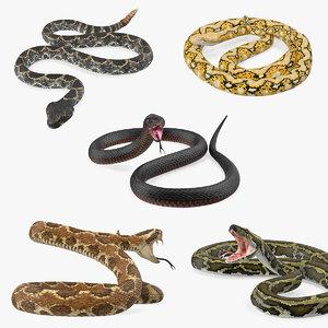 3D snakes 3 model