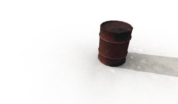 3D barrel substance unreal model