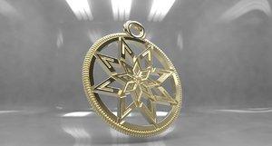 3D slavic amulet model