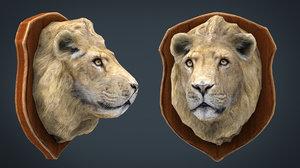 3D lion trophy model